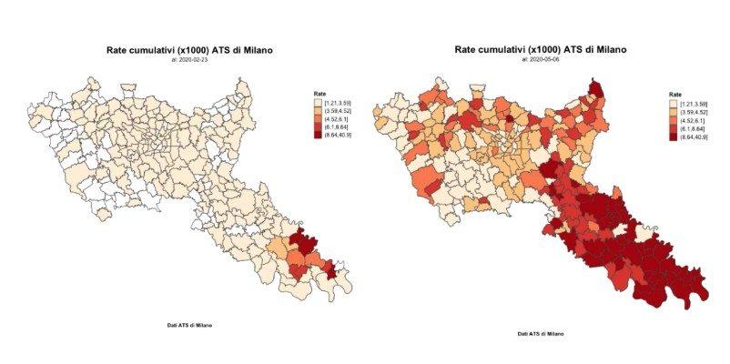 La diffusione del virus dalla fine di febbraio all'inizio di maggio nella ricostruzione dell'Ats di Milano