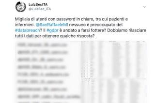 """Attacco hacker al San Raffaele di Milano: """"Rubati dati di infermieri e pazienti"""". Ospedale smentisce"""