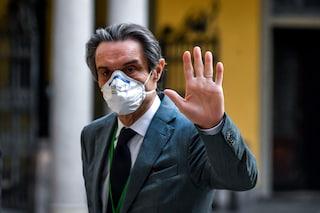 """Fontana: """"I dati in Lombardia sono positivi, ma non lo dico ad alta voce per scaramanzia"""""""