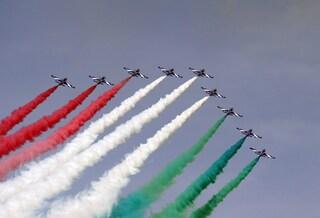 Frecce tricolori a Monza: l'esibizione per il Gran premio di Formula 1