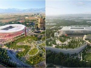 Gli ultimi progetti del nuovo stadio di San Siro, con il salvataggio di una parte del vecchio Meazza