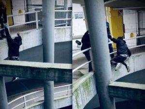 Gallarate, si aggrappa al cornicione per sfuggire alla polizia: pusher salvato dagli agenti
