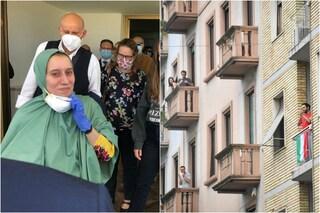 Milano festeggia l'arrivo di Silvia Romano: applausi e campane in festa nel suo quartiere