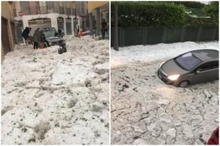 Grandine e allagamenti a Nembro e Alzano Lombardo: decine interventi e strade chiuse