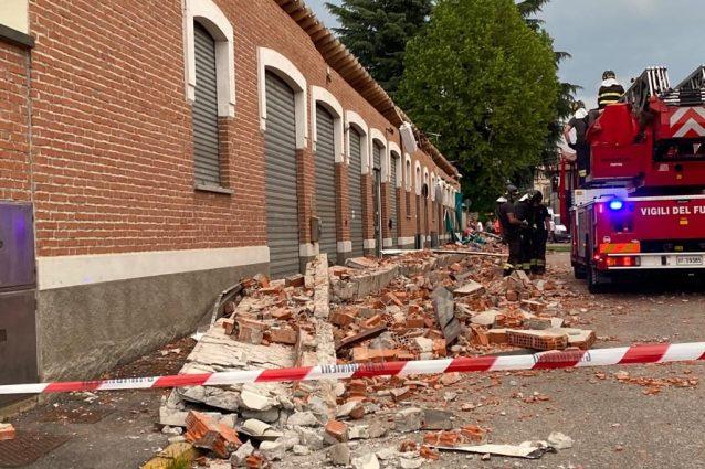 Il luogo della tragedia ad Albizzate (Varese)