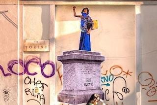 Statua Montanelli imbrattata, l'artista Ozmo dedica un murale alla sua sposa bambina