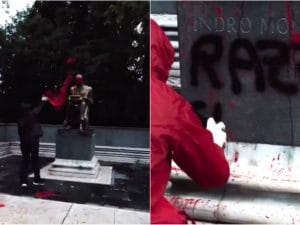 "Milano Rete Studenti rivendica raid statua Montanelli schiavismo sessismo razzismo"""