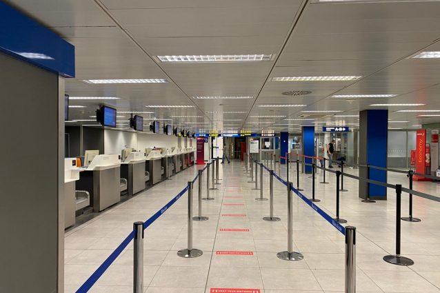 L'aeroporto di Linate deserto alla riapertura (Foto: Giancristofaro/Fanpage.it)