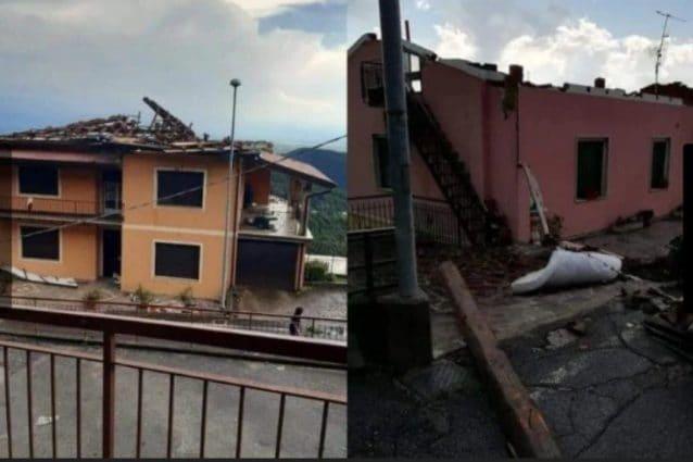 Maltempo a Brescia: case scoperchiate dalla tempesta, grandine devasta i campi
