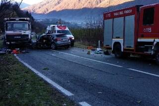 Gavardo, incidente mortale sulla strada statale 45bis tra auto e tir: vittima un 58enne