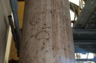 Ladri nel cantiere della chiesa dello Spirito Santo: danni al colonnato, attrezzi rubati