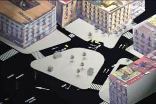 Piazza Garibaldi, nuovi cantieri: ecco come sarà piazza Principe Umberto. Chiude via Poerio