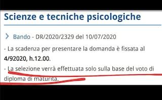 """""""Scienze e tecniche psicologiche, quel bando della Federico II ha criteri ingiusti"""""""