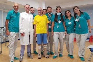 Torna a casa dopo 4 mesi Nuccio Sanseverino, il medico contagiato in reparto dal coronavirus