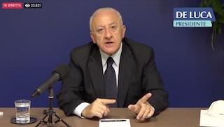 Lockdown Covid19 in Campania: cosa dirà  De Luca oggi nella diretta video (e cosa non dirà)