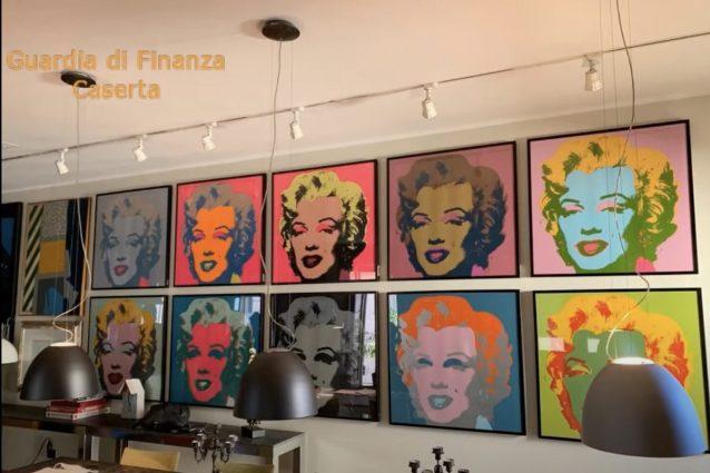 Le Marilyn di Warhol e l'Elefante di Dalì, rubati, ritrovati in casa di imprenditore indagato