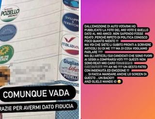 """Elezioni comunali Giugliano, candidata pubblica la foto della scheda: """"Non sapevo fosse reato"""""""