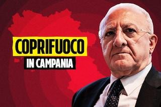 """De Luca, coprifuoco in Campania dalle ore 22 a fine ottobre: """"Stop Halloween, è un'idiozia"""""""