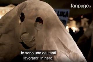 """Coprifuoco Napoli, in piazza Plebiscito la protesta dei """"fantasmi"""" del lavoro nero"""