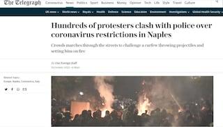 Napoli, la guerriglia contro il coprifuoco fa il giro del mondo