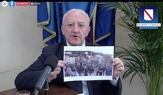 """Tamponi Covid, De Luca: """"Non è vero che la gente aspetta 10 giorni, Campania aggredita dai media"""""""