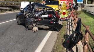 Incidente ad Avellino, scontro tra due auto e un furgone sulla Statale 7 Bis: due feriti