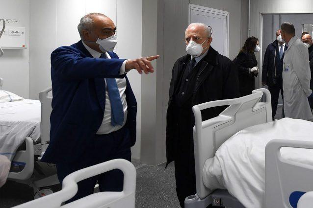 Ciro Verdoliva e Vincenzo De Luca al Covid Center