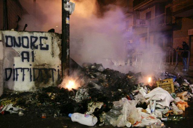 Le proteste del 2008 a Pianura
