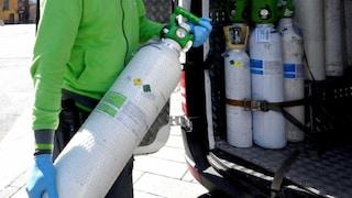 Bombole d'ossigeno a rischio esaurimento: in Campania nuove scorte per i pazienti Covid
