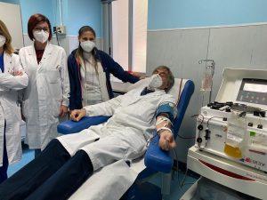 Carlo Molino, direttore dell'UOC di chirurgia generale e chirurgia del pancreas, guarito dal Covid e ora donatore del plasma iperimmune.