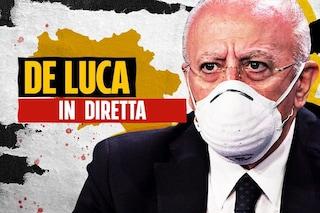 """De Luca: """"Campania, alto numero di infetti Covid sintomatici, molti giovani. Forse causa è variante inglese"""""""