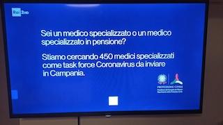 La Campania cerca 450 medici per combattere il Covid: l'annuncio anche in tv