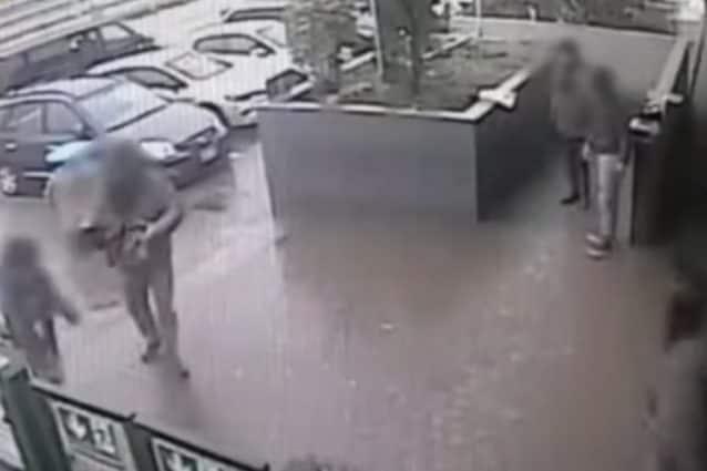 un frame dei video acquisiti dalla Polizia