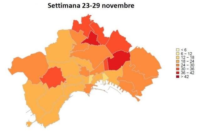 Provincia Di Napoli Cartina.Covid Napoli Mappa Dei Contagi Per Quartiere Miano E Poggioreale I Piu Colpiti