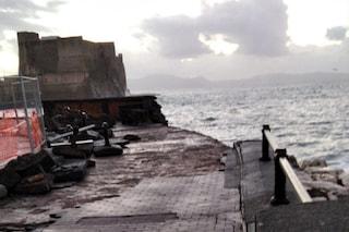 Campania, allerta meteo gialla prorogata anche domani: pericolo mareggiate, paura a Napoli