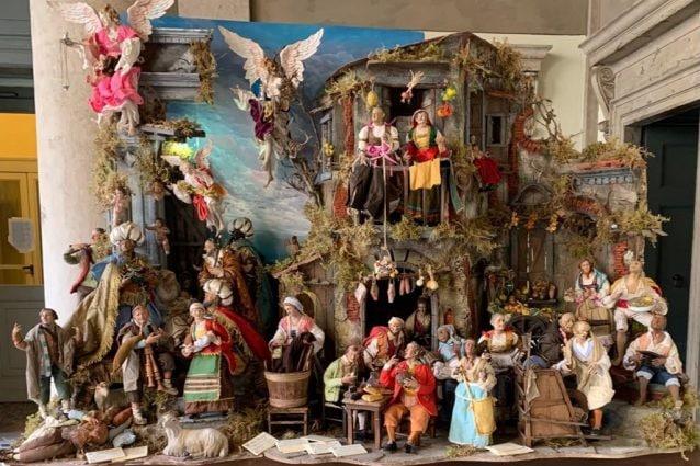 Il presepe donato a Bergamo dalla Campania, opera della bottega Buonincontro di San Gregorio Armeno