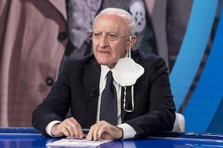 """De Luca: """"In Campania la situazione non è buona"""". Verso chiusura scuole per Covid"""