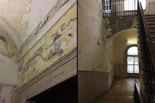 Ponte di Chiaia restaurato nel 2017: crepe, infiltrazioni e degrado nel torrino ascensore
