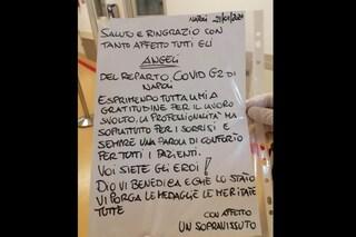 """Sopravvissuto al Covid al Cotugno ringrazia medici e infermieri : """"Siete angeli ed eroi"""""""