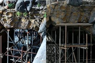 Perché è crollato l'Arco borbonico: nessuna manutenzione dopo la prima mareggiata