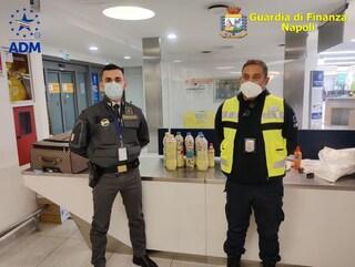Cocaina pura e oppio nascosti nel sapone: 11 chili di droga sequestrati all'aeroporto Capodichino