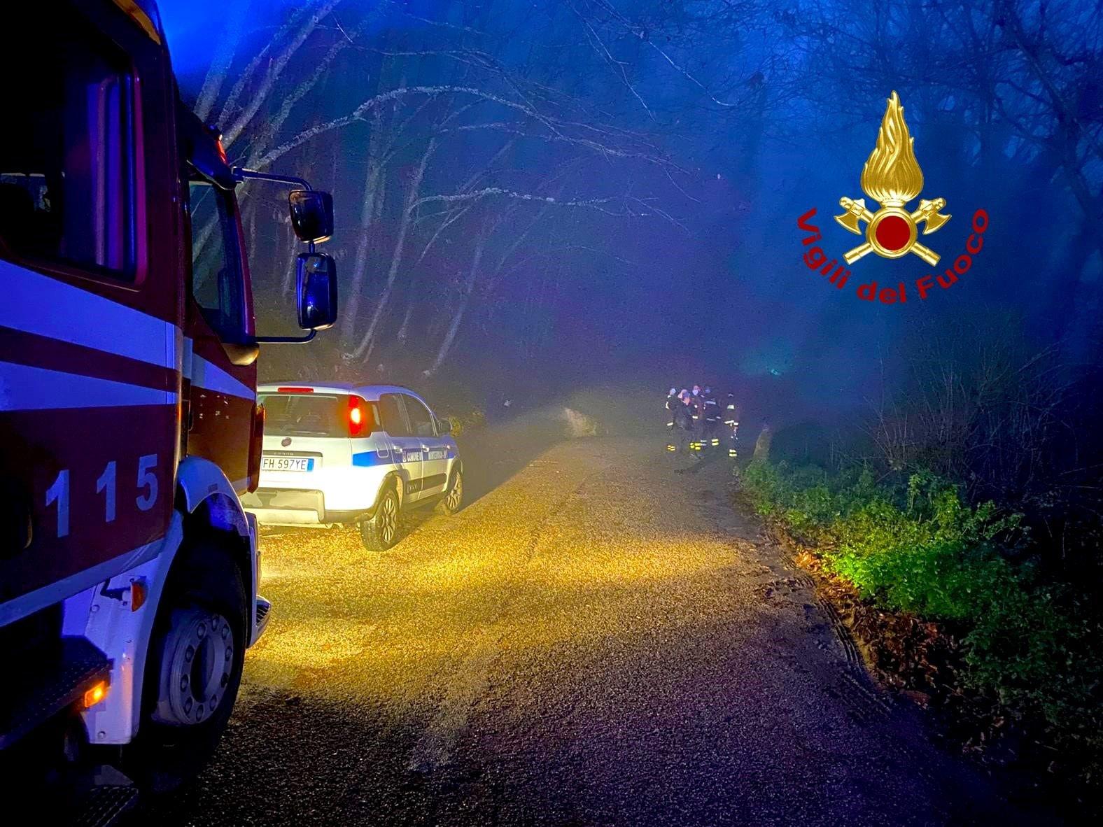 La frana tra Montefusco e Santa Paolina (Avellino)