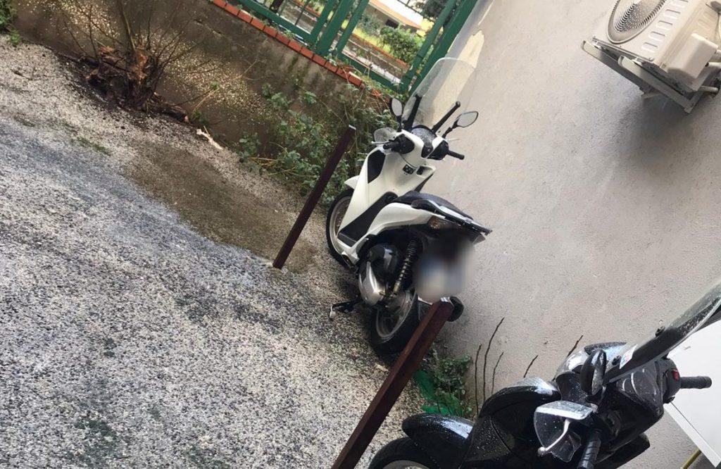 Lo scooter recuperato
