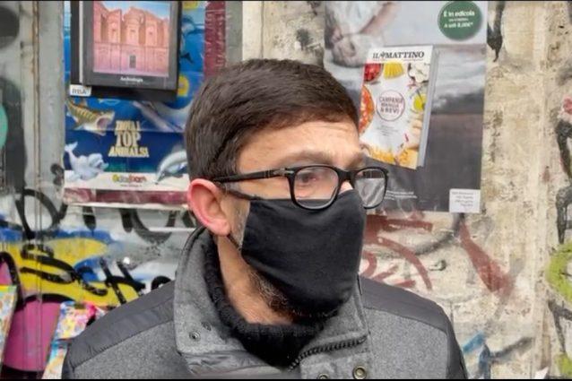 Gianni, il rider rapinato e picchiato a Napoli.
