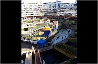 Gomorra 5 si gira ai Ponti Rossi: costruito un mega Luna Park gonfiabile