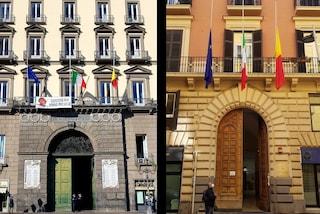 Napoli, bandiere a mezz'asta per l'ambasciatore Attanasio e il carabiniere Iacovacci uccisi in Congo
