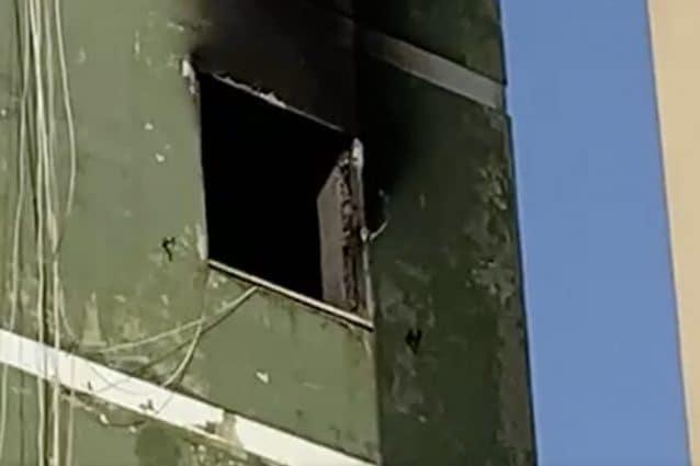 Il luogo dell'incendio (Fonte: screen da un video di Sicomunicazione)
