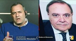 """De Magistris-Mastella, insulti in diretta tv da Giletti: """"Sei un bugiardo"""". """"E tu un farabutto"""""""