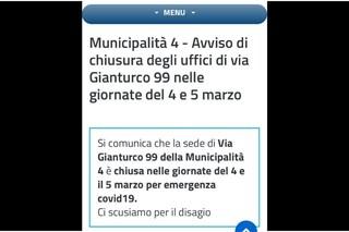 """""""Emergenza Covid"""", chiude la sede del Comune di Napoli a Poggioreale"""