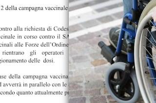 La Regione Campania vaccina i giornalisti ma non i disabili